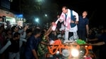Assam Minister and BJP candidate Himanta Biswa Sarma during a roadshow ahead of the state assembly polls, in Assam's Tinsukia district, Sunday, March 21, 2021. (PTI)