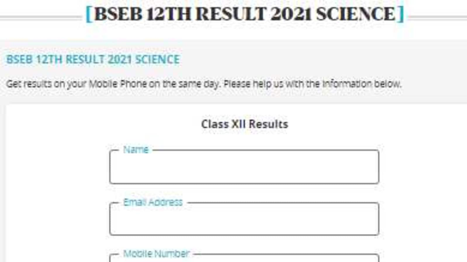 Bihar Board 12th Result 2021 tomorrow, Register here to get BSEB inter results - Hindustan Times