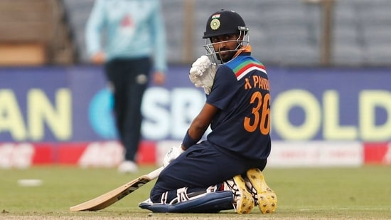 First One Day International - India v England - Maharashtra Cricket Association Stadium, Pune, India - March 23, 2021 India's Krunal Pandya(REUTERS)