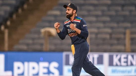Pune: Indian captain Virat Kohli celebrates after winning the first ODI against England(PTI)