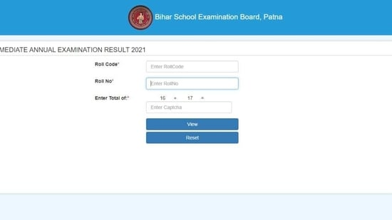 Bihar Board 12th Result 2021.(Screengrab )