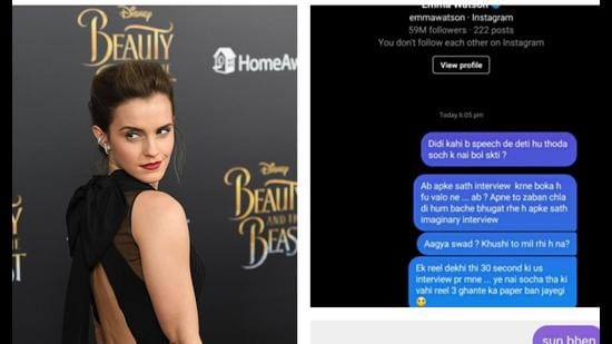 British actress Emma Watson's social media handles were recently flooded by Delhi University students, with a request to refrain from giving any more speeches! (Photo: AFP)