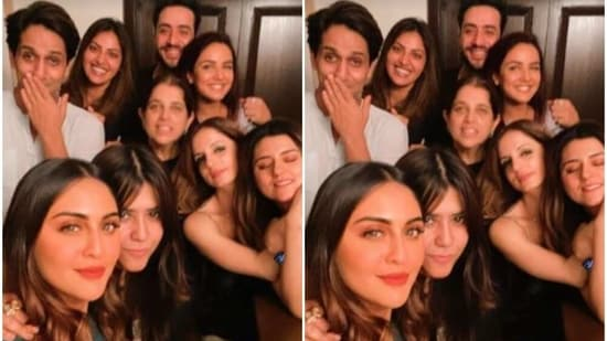 Sussanne Khan partied with her TV friends including Jasmin Bhasin and Aly Goni.