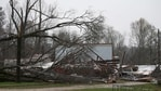 Ragan Chapel United Methodist church is destroyed after a tornado touched down killing several people and damaging multiple homes, Thursday, March 25, 2021 in Ohatchee, Ala. (AP Photo/Butch Dill)