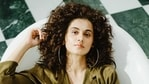 Actor Taapsee Pannu is currently working on her film Shabaash Mithu.(HT_PRINT)