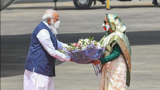 Over the past decade, if there is one success of India's neighbourhood policy, it is this relationship. And this is primarily due to Bangladesh Prime Minister Sheikh Hasina's clear strategic outlook (PTI)