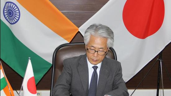 Ambassador of Japan to India Satoshi Suzuki and CS Mohapatra, Additional Secretary, Department of Economic Affairs, Ministry of Finance signed the deals for the loans on Friday. (EMBASSY OF JAPAN.)
