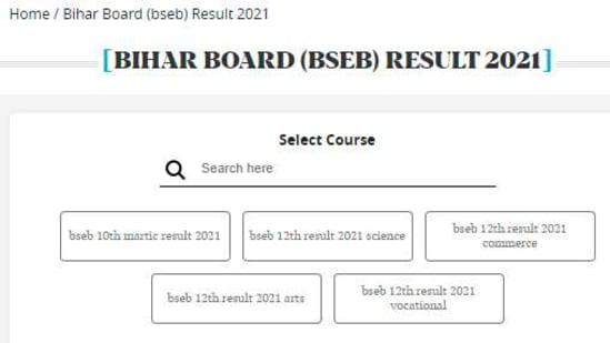 BSEB Bihar Board 12th Result 2021: Students who have appeared in Bihar board intermediate examinations can check their results after declaration on HT portal and the official website of BSEB.(hindustantimes.com)