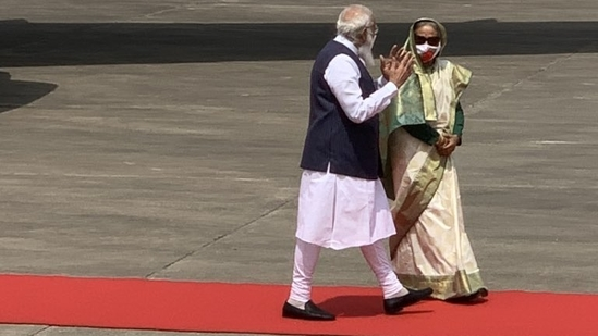 Prime Minister Narendra Modi's two-day visit to Bangladesh is part of his continuing focus on cementing ties with the neighbour.(Twitter/PMO India)
