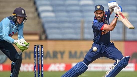 India skipper Virat Kohli in action.(PTI)