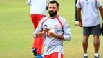 Mohammed Shami in the nets for Punjab Kings last season. (Punjab Kings/Twitter)