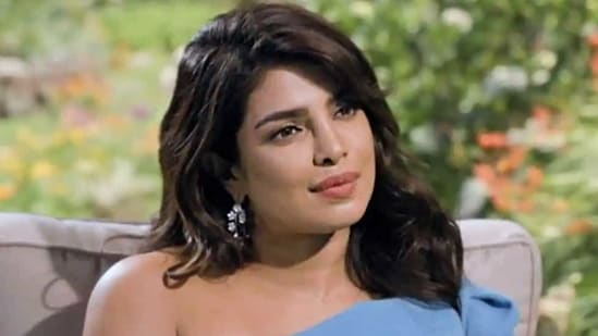 Priyanka Chopra sports a no- makeup glam with floral hoops