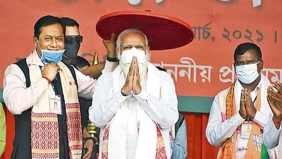 Chief Minister Sarbananda Sonowal's constituency Majuli is also going to polls in the first phase.( PTI)