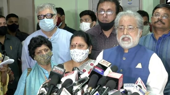 A TMC delegation met the Election Commission on Saturday. (ANI Photo )