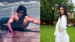 Suniel Shetty shared an old picture from a beach shoot and Athiya Shetty shared her reaction.