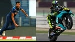 Prasidh Krishna and MotoGP racer Valentino Rossi (R)(Twitter)