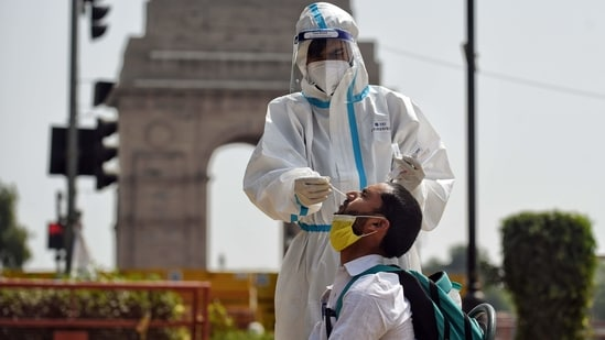 Cases have surged in the national capital over the past few weeks, as India entered its second wave of infections.(ANI)