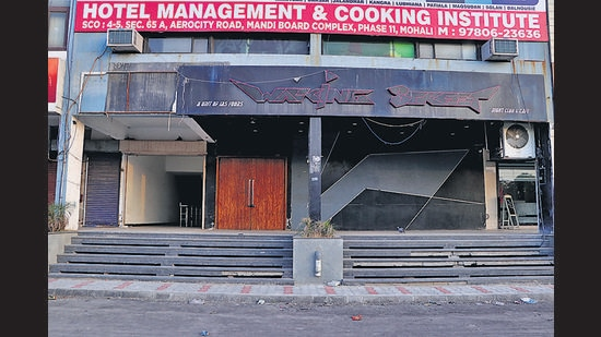 The club, Walking Street, in Phase 11, Mohali, was found operating through the back door. (HT File Photo)