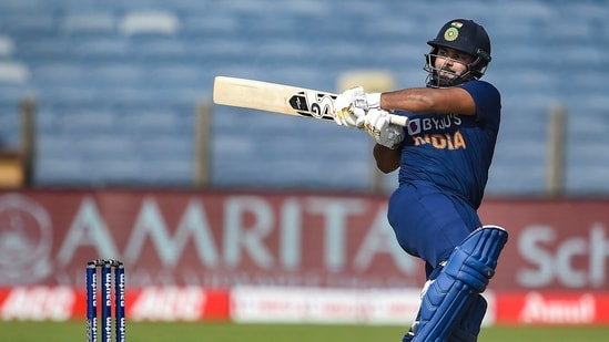 Indian batsman Rishabh Pant plays a shot. (PTI)