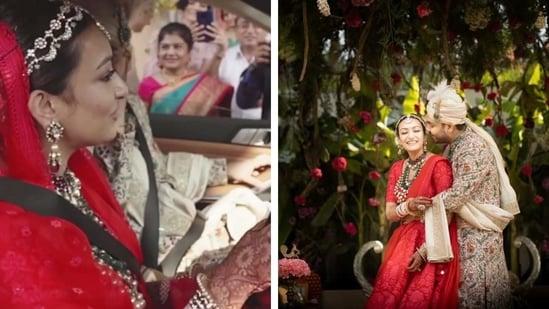 Sneha Singhi Upadhaya with her husband Saugat Upadhaya.(Sneha Singhi Upadhaya)