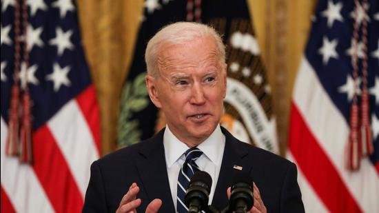 When questioned on the administration's plans on gun reforms, immigration reforms, voting rights, and climate, Mr Biden underlined the urgency of all these issues (REUTERS)