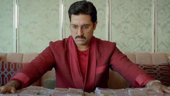 Abhishek Bachchan in a still from The Big Bull.