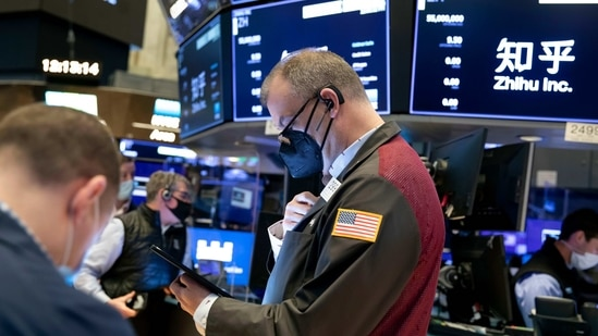 The possibility of additional block trades still looms over the market, while the traditional end-of-quarter volatility may contribute to sharper swings on high-flying stocks.. (Nicole Pereira/New York Stock Exchange via AP)(AP)
