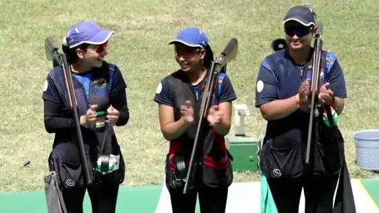 Shreyasi Singh, Rajeshwari Kumari and Manisha Keer.(Twitter)