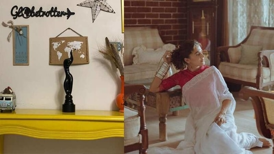 Taapsee Pannu shows fans around her new house.
