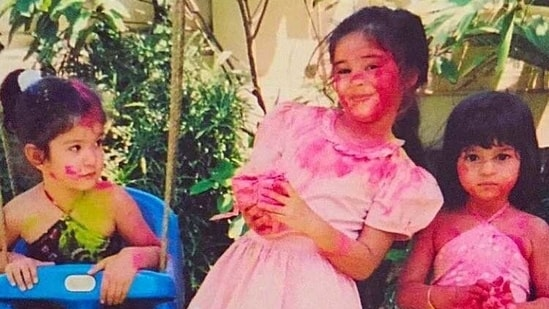 Ananya Panday, Suhana Khan and Shanaya Kapoor as children.