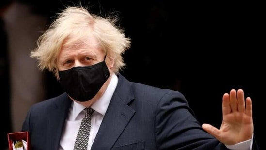 Britain's Prime Minister Boris Johnson waves as he leaves Downing Street in London, Britain, on March 24, 2021. (Reuters)