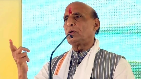 Rajnath Singh is in Kerala to campaign for the Bharatiya Janata Party ahead of the April 6 assembly polls.(ANI)