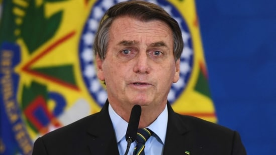 Jair Bolsonaro, who comes up for re-election in October 2022, has drawn backlash with his handling of the pandemic in hard-hit Brazil.(AFP)