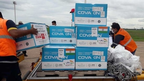 """""""Never too far for friendship. Made in India vaccines arrive in Paraguay,"""" India's external affairs minister S Jaishankar tweeted.(Twitter/@DrSJaishankar)"""