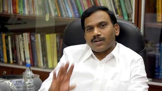 File photo of DMK leader A Raja.(HT Photo)