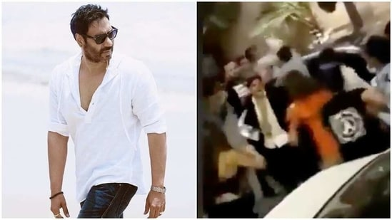 Actor Ajay Devgn was not a part of the brawl, says his team.