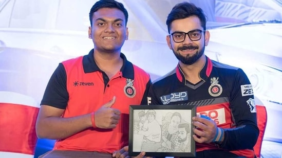 Prathamesh Avachare is the co-founder of Virat Gang and RCB Bold Brigade. (HT)
