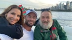 Chris Hemsworth and Elsa Pataky with Russell Crowe.