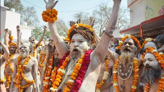 Many people who are coming to Mahakumbh are either visiting Rishikesh, or staying there given better hotels and accommodations there. (Image used for representation). (HT PHOTO.)