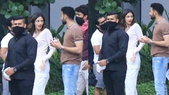 Ananya Panday and Siddhant Chaturvedi spotted on the sets of Shakun Batra's next.(Varinder Chawla)