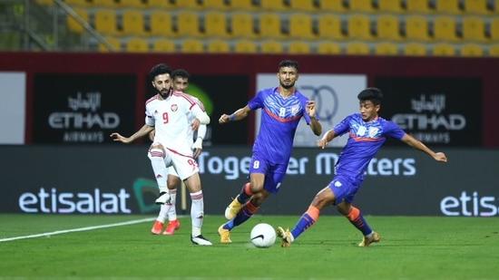 Indian football team loose 0-6 to UAE(Indian Football Team / Twitter)