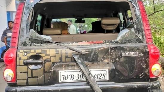 Ashoke Dinda attacked during election campaign(Ashoke Dinda / Twitter)