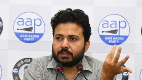 AAP leader and MCD in-charge Durgesh Pathak.(Image via Twitter)