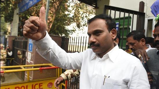 DMK leader A Raja. (HT Archive)