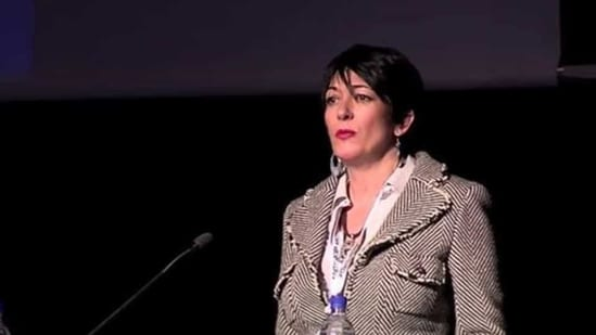 Ghislaine Maxwell speaks at the Arctic Circle Forum in Reykjavik, Iceland.(REUTERS file photo)