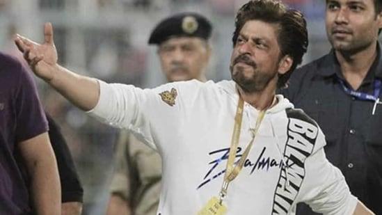 Shah Rukh Khan at an IPL match.(AP)