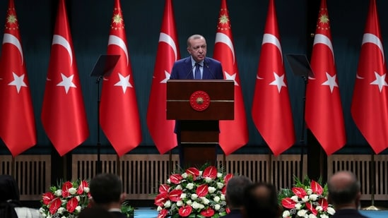 "The US leader criticized Turkish counterpart Recep Tayyip Erdogan as an ""autocrat"".(via REUTERS)"