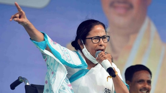 Mamata Banerjee has left her traditional seat of Bhabanipur and is taking on Suvendu Adhikari from Nandigram.(ANI File Photo)