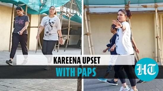 Kareena was seen outside friend Amrita Arora's house (HT)