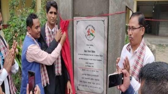 India builds new school building for Shree Rashtriya Primary School in Nepal.(ANI)